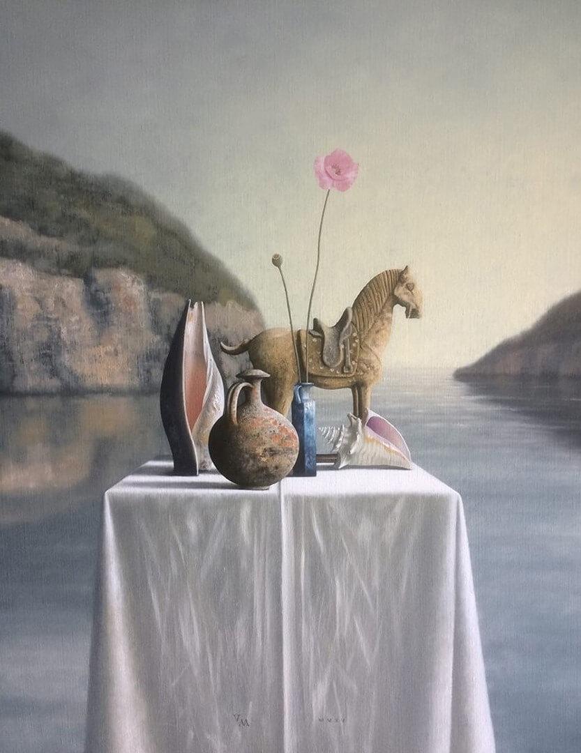 Paard en schelpen
