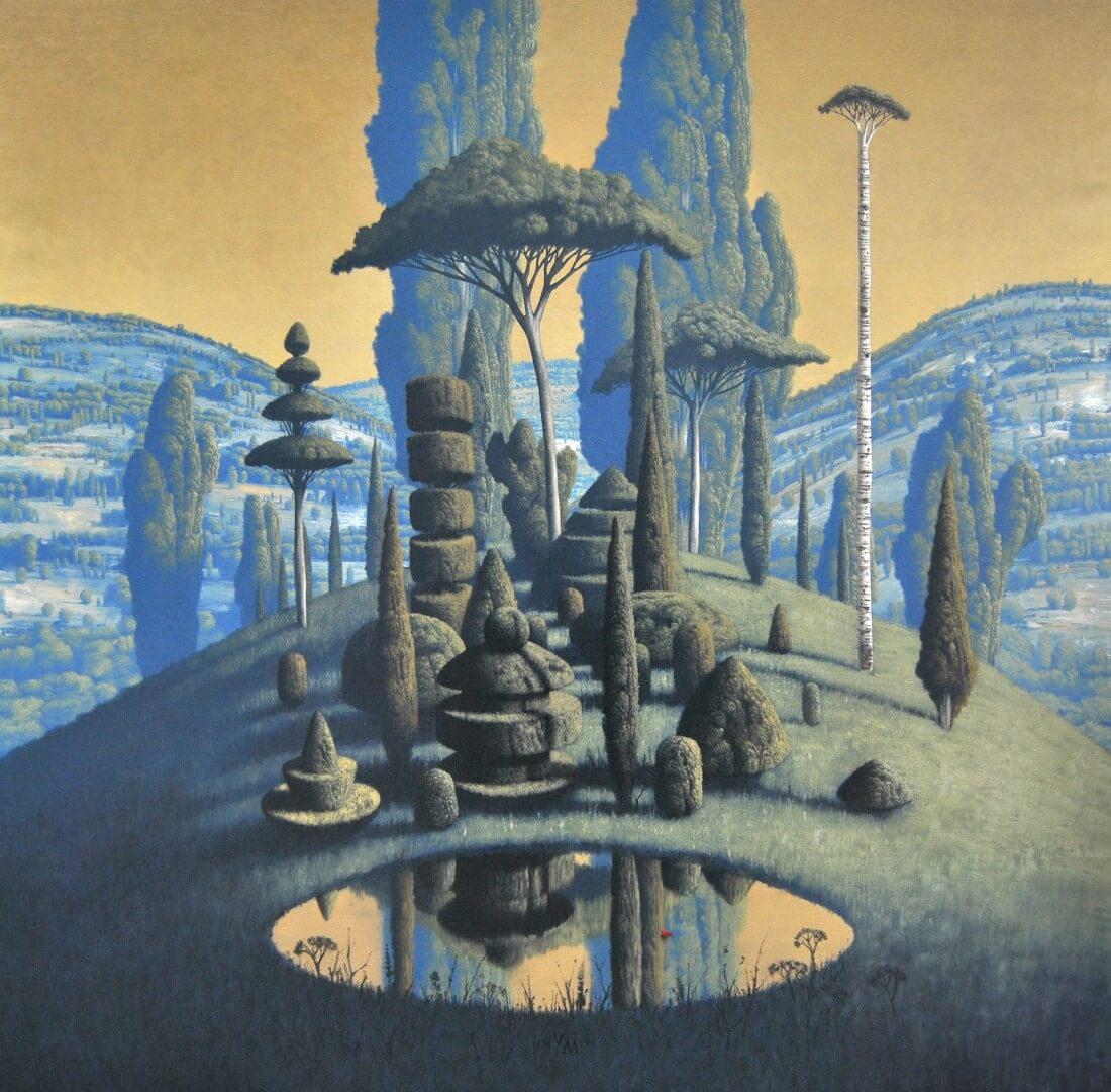 """[nl]Olieverf op linnen, 120 x 120 cm [en]Oil on canvas, 48"""" x 48"""""""