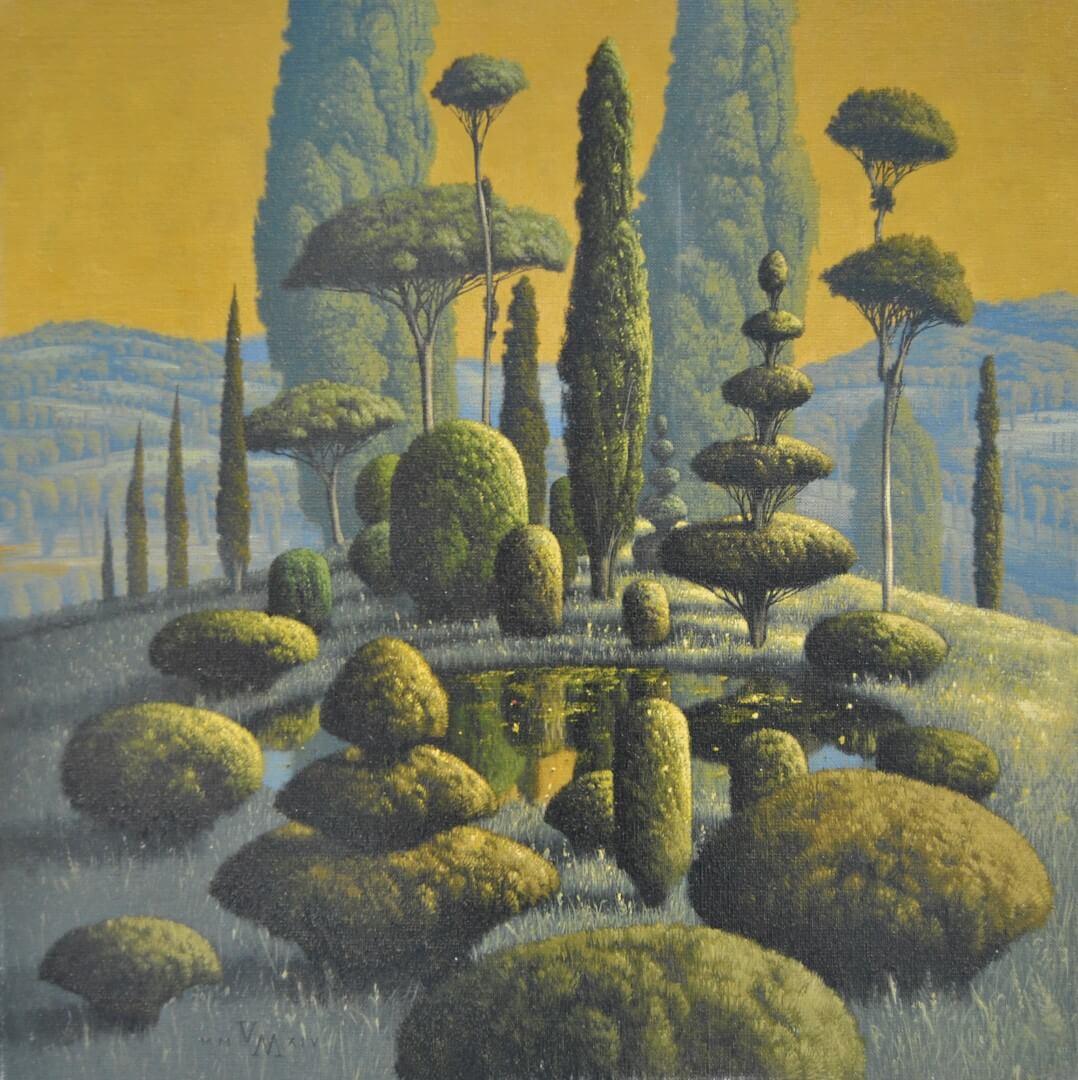 """[nl]Olieverf op linnen, 50 x 50 cm [en]Oil on canvas, 20"""" x 20"""""""