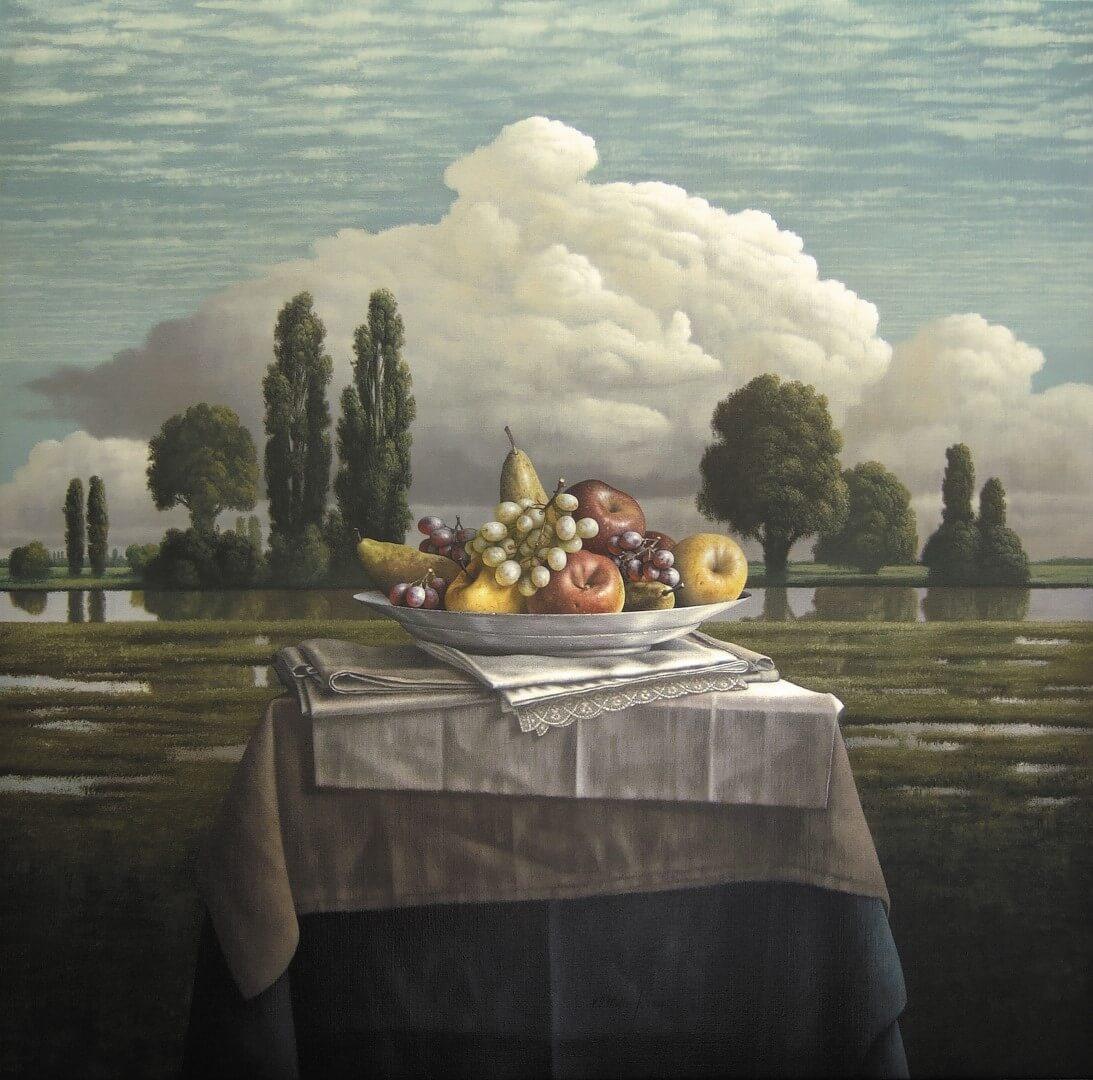 """[nl]Olieverf op linnen, 100 x 100 cm [en]Oil on canvas, 40"""" x 40"""""""