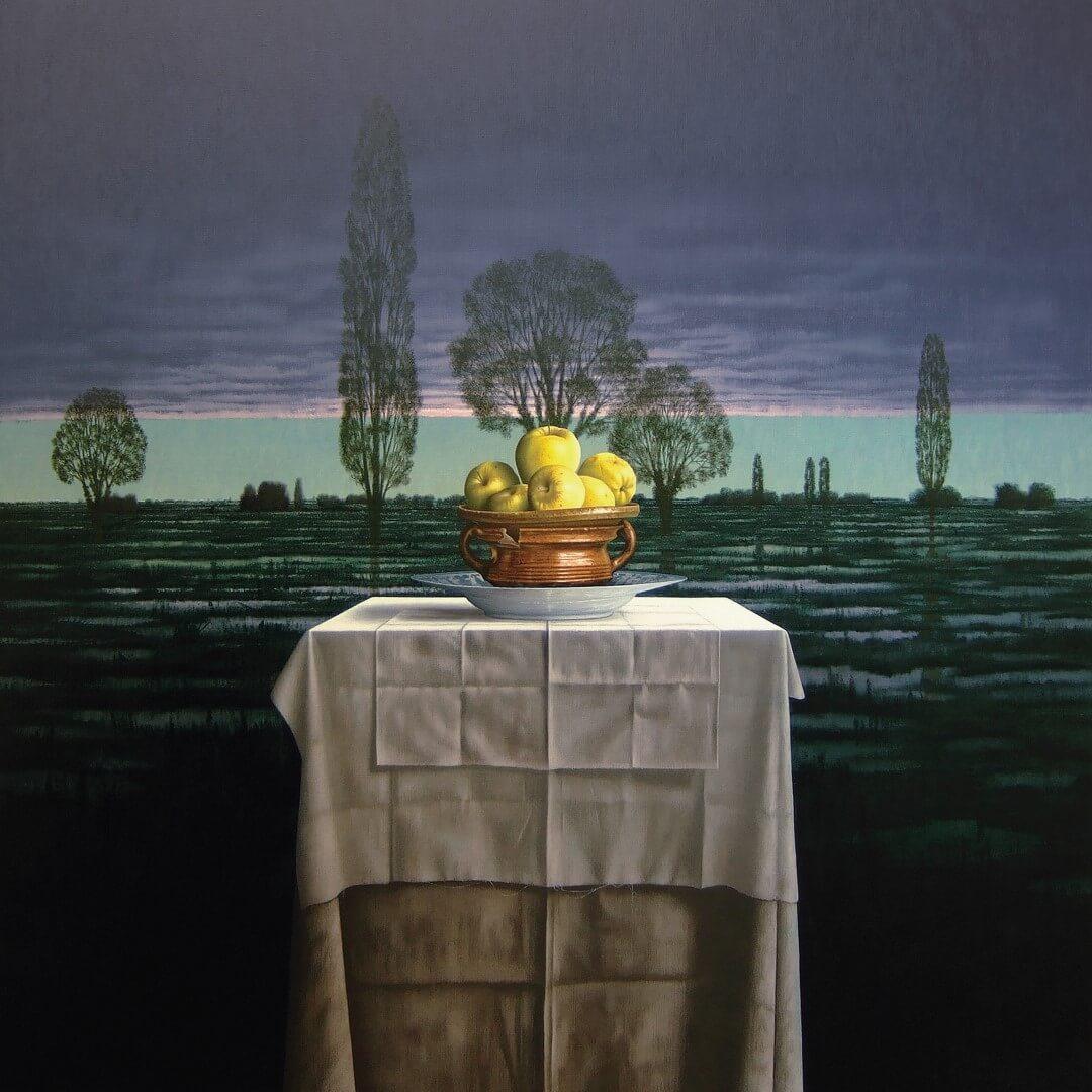 """[nl]Olieverf op linnen, 140 x 140 cm [en]Oil on canvas, 56"""" x 56"""""""