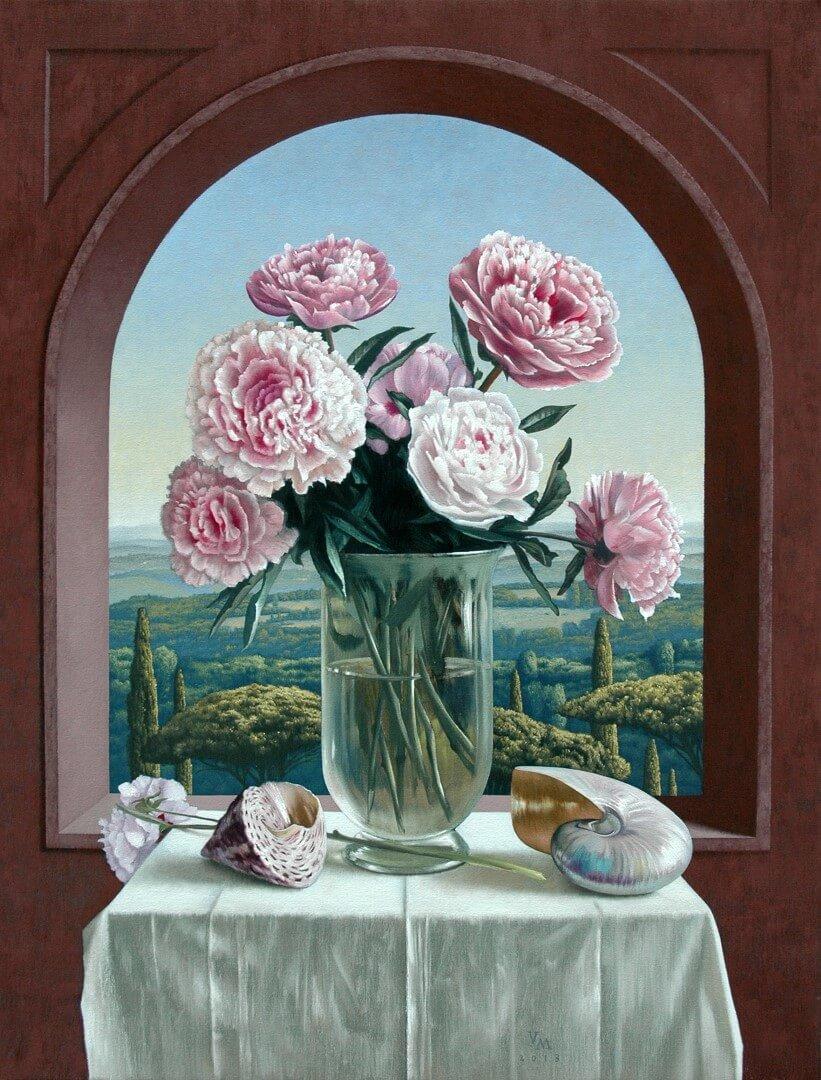 """[nl]Olieverf op linnen, 80 x 60 cm [en]Oil on canvas, 32"""" x 24"""""""