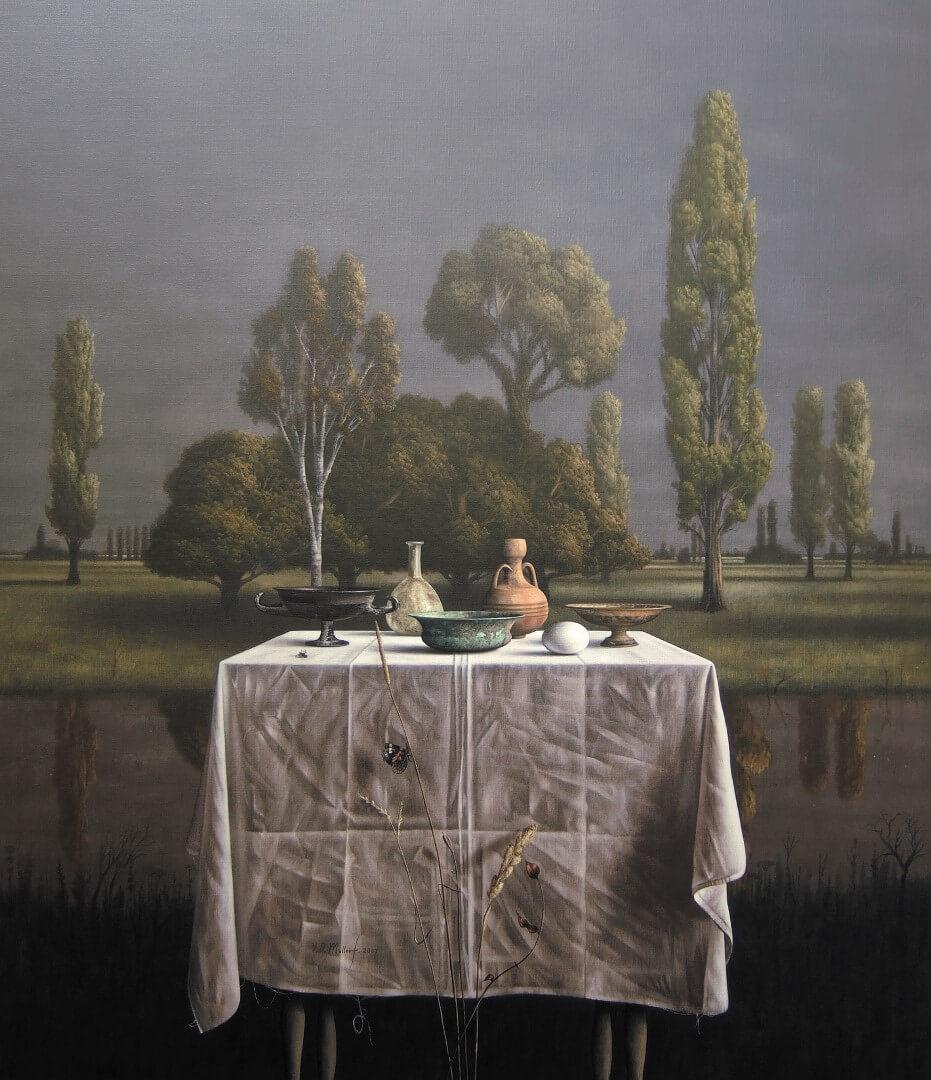 """[nl]Olieverf op linnen, 130 x 110 cm [en]Oil on canvas, 52"""" x 44"""""""