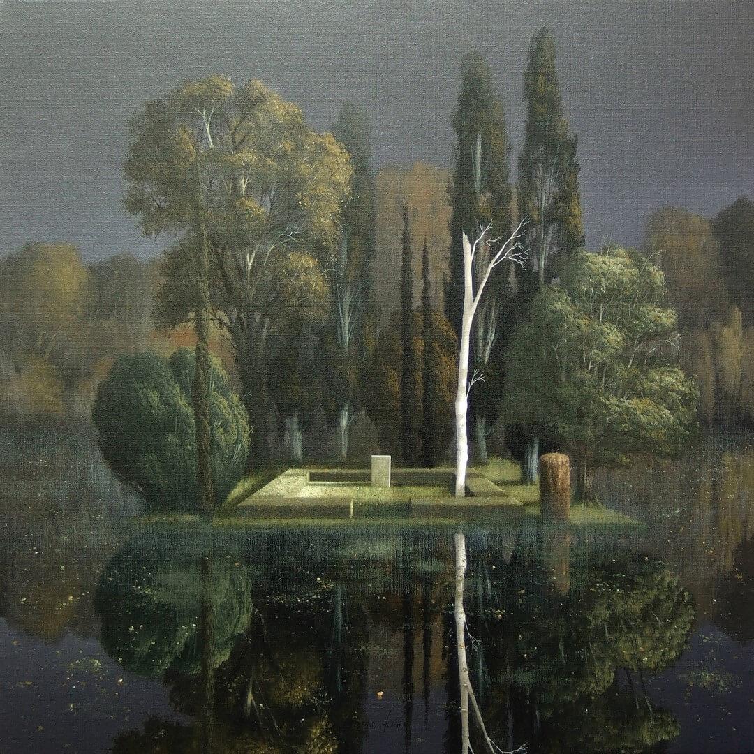 """[nl]Olieverf op linnen, 80 x 80 cm [en]Oil on canvas, 32"""" x 32"""""""