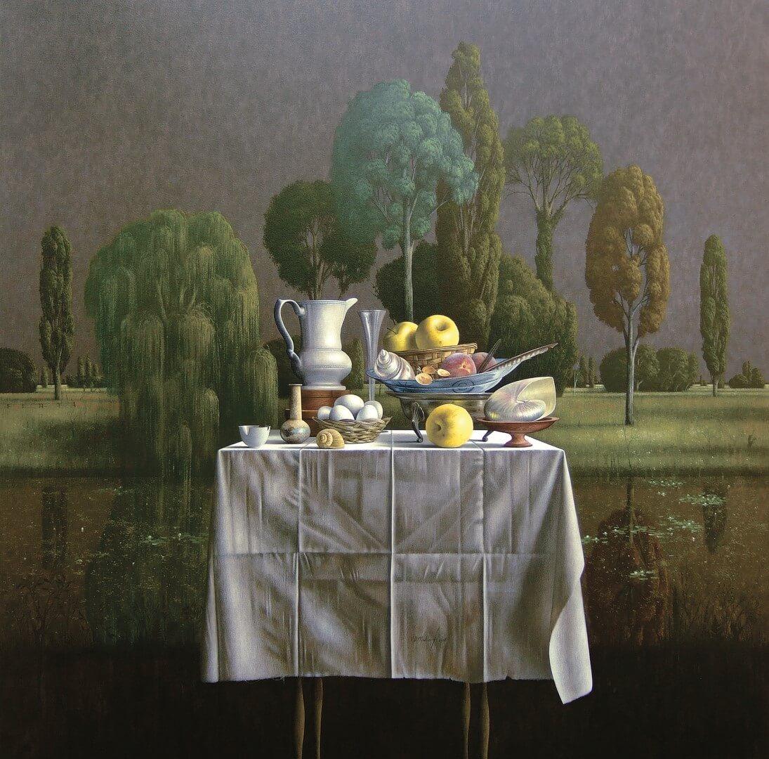"""[nl]Olieverf op linnen, 135 x 135 cm [en]Oil on canvas, 54"""" x 54"""""""