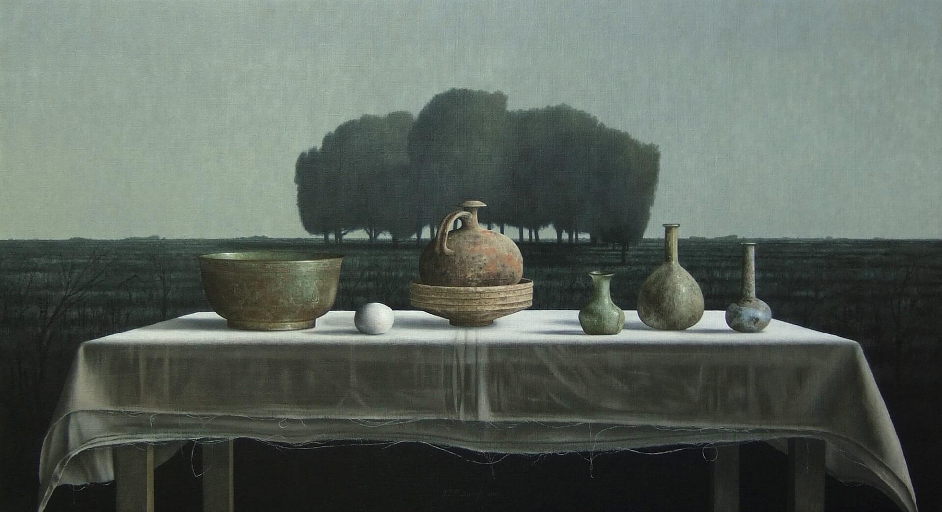 """[nl]Olieverf op linnen, 110 x 60 cm [en]Oil on canvas, 44"""" x 24"""""""