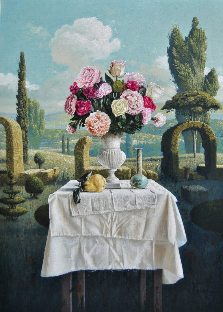 """[nl]Olieverf op linnen, 140 x 100 cm [en]Oil on canvas, 56"""" x 40"""""""