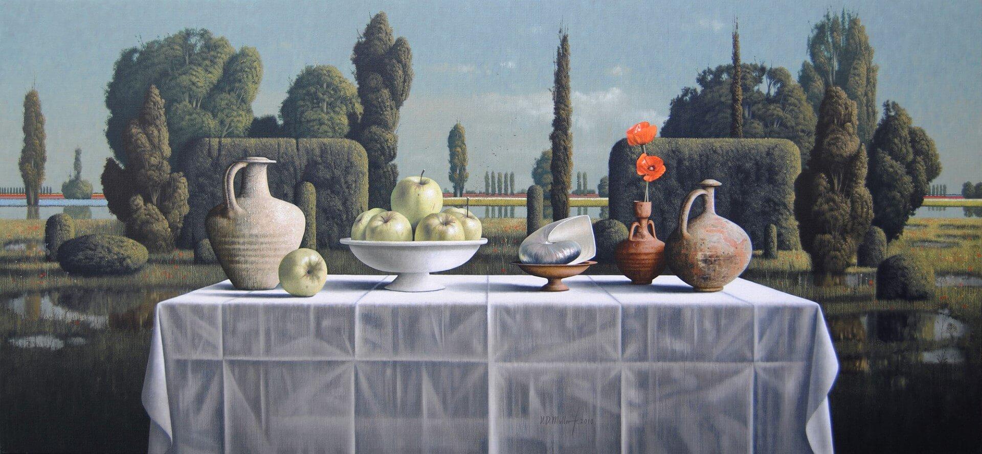"""[nl]Olieverf op linnen, 150 x 70 cm [en]Oil on canvas, 60"""" x 28"""""""