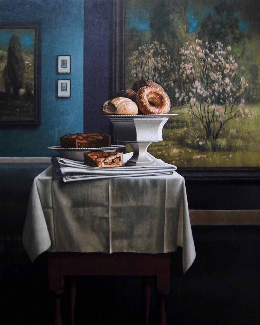 """[nl]Olieverf op linnen, 100 x 80 cm [en]Oil on canvas, 40"""" x 32"""""""
