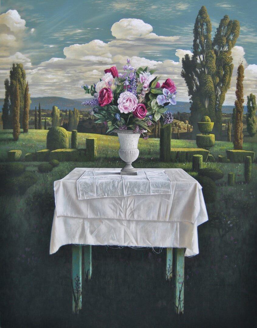 """[nl]Olieverf op linnen, 180 x 140 cm [en]Oil on canvas, 72"""" x 56"""""""