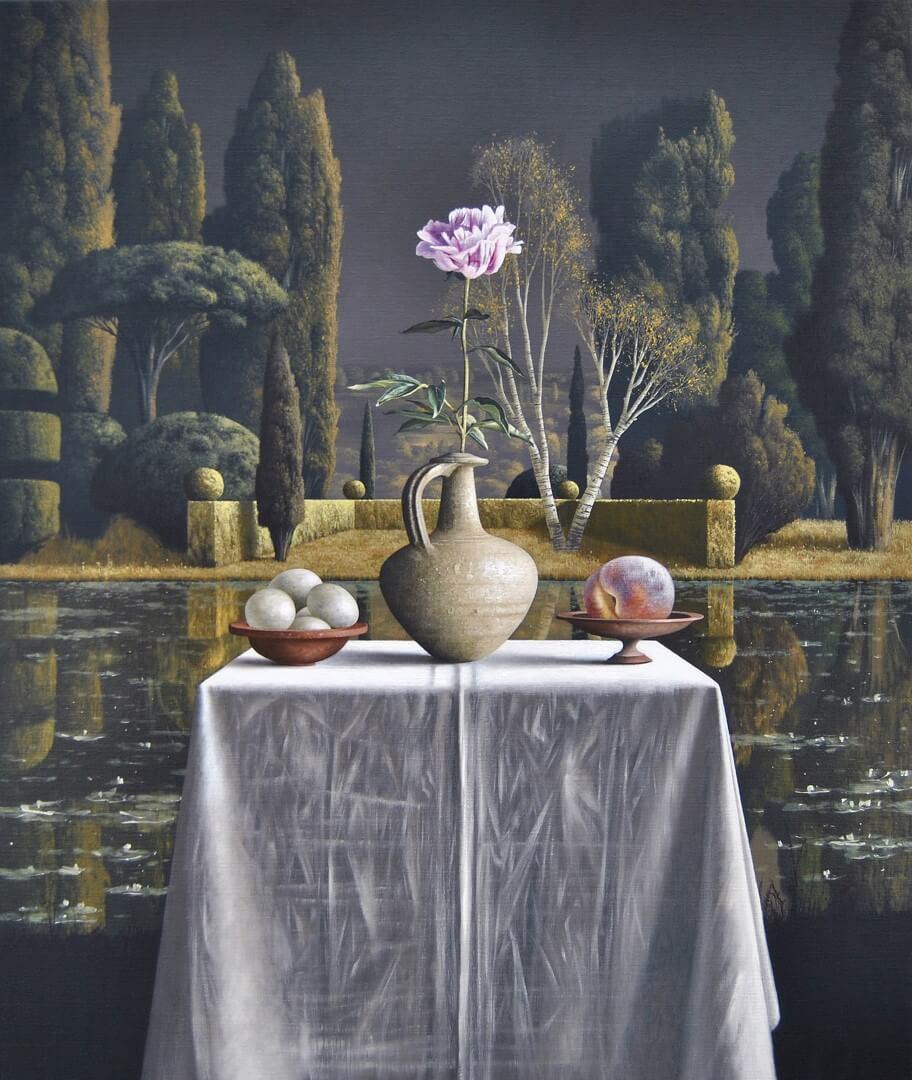 """[nl]Olieverf op linnen, 110 x 90 cm [en]Oil on canvas, 44"""" x 36"""""""