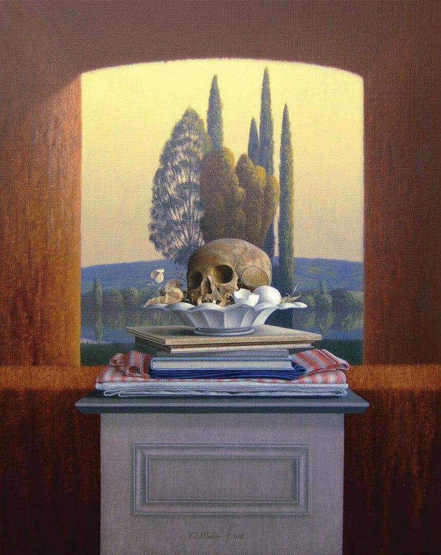 """[nl]Olieverf op linnen, 90 x 70 cm [en]Oil on canvas, 36"""" x 28"""""""
